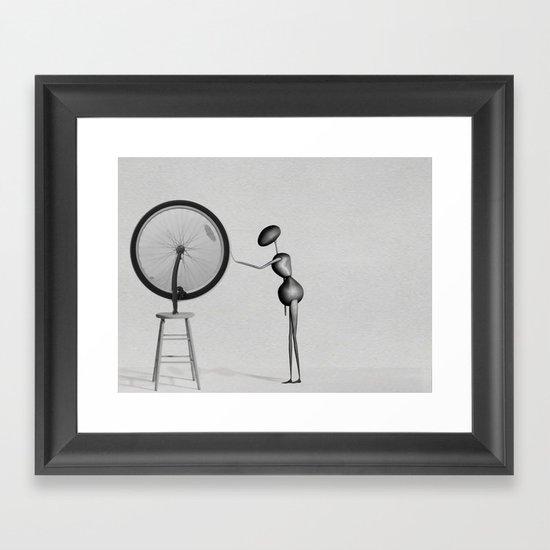 AntWoman & Duchamp's wheal Framed Art Print