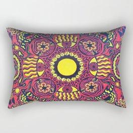 Tribal Gathering Mandala Rectangular Pillow