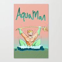 aquaman Canvas Prints featuring Aquaman by ClimbTheBell