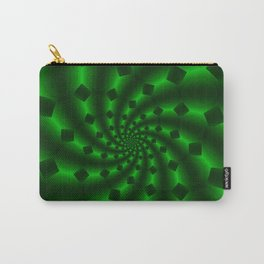 Tess Fractal in Magical Emerald Green Carry-All Pouch