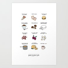 Foods of Gilmore Girls Art Print