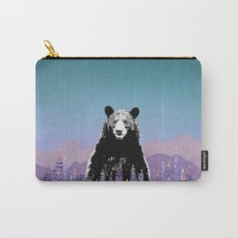 Black Bear in Lupine Carry-All Pouch