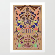 Haikuglyphics - Thoughts on Humanity Art Print