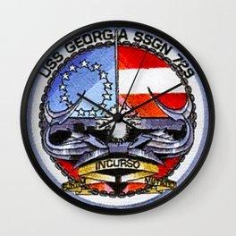 USS GEORGIA (SSGN-729) PATCH Wall Clock