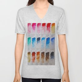 Watercolor Swatches Unisex V-Neck
