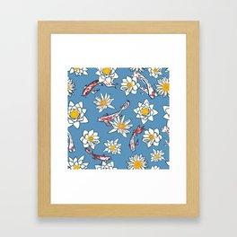 Koi Pattern Japanese Framed Art Print