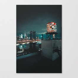The Water Tower New York City (Color) Canvas Print