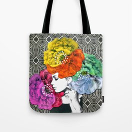Floral Headpiece Tote Bag