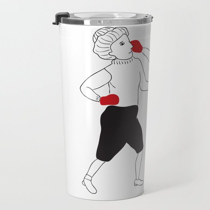 Women boxing Travel Mug