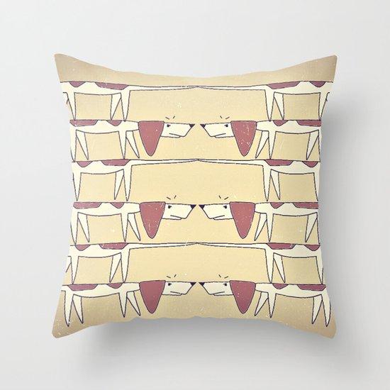 Beagle Dilemma Throw Pillow