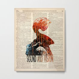 Sound and Vision #2 on dictionary page Metal Print