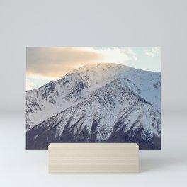Snowy Mountain Sunset Mini Art Print