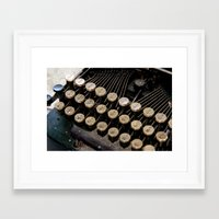 writer Framed Art Prints featuring Writer by PhotoGalJan