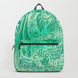 Hawaiian - Polynesian Green Pineapple Print Backpack