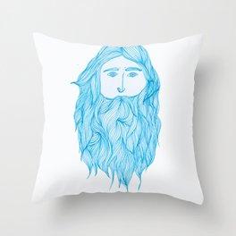 Beardy Weardy Throw Pillow