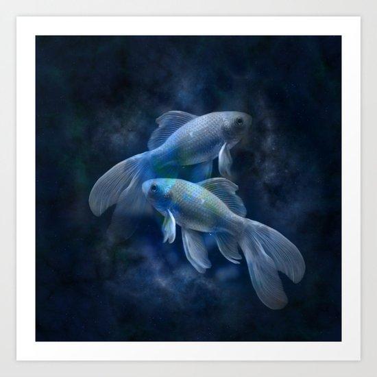 Twin Fish  Art Print