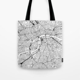London White Map Tote Bag
