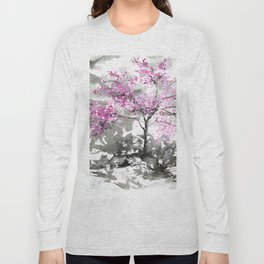 Sumie No.2 Plum Blossoms Long Sleeve T-shirt