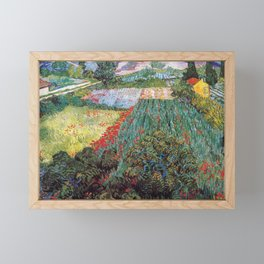 Vincent Van Gogh Field with Red Poppies 1889 Framed Mini Art Print