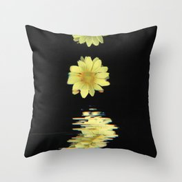 Daisy Time Splice Throw Pillow