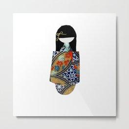 Emiko Blue Metal Print