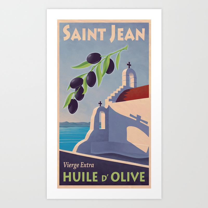 Saint Jean Huile D'olive Art Print by Mitchfrey PRN246268