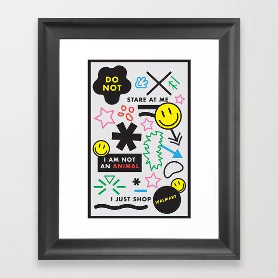People of Walmart Framed Art Print