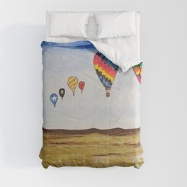 Balloons Across the Amber Waves of Grain  Comforters