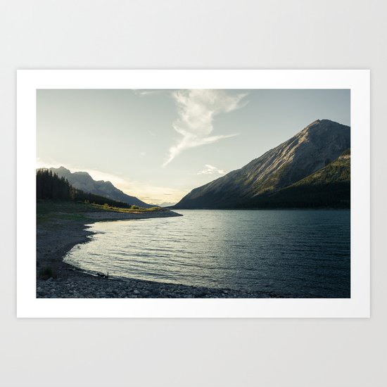 Rocky Mountain Lake At Dusk Art Print