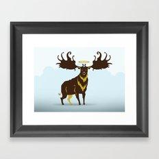 God's Zoo: Irish Elk Framed Art Print