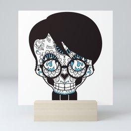 scull head with bow tie Mini Art Print