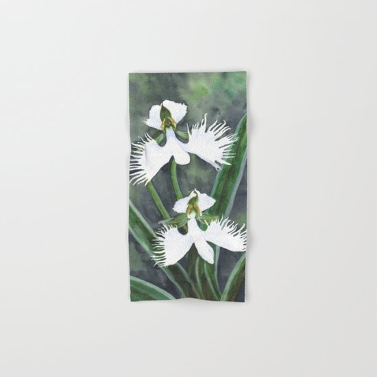 Habenaria radiata orchids Hand & Bath Towel