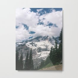 Mount Rainier from the Trails Metal Print