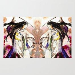 Tomoe Gozen watercolor Rug