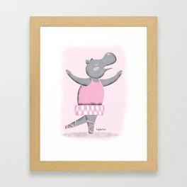 Hippo Ballet Framed Art Print