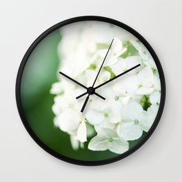 Softly Endearing - Hydrangia in Green Wall Clock