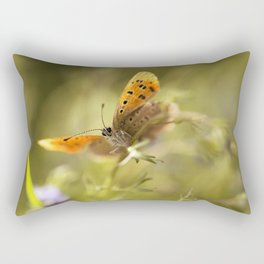 Morning impression with orange butterfly Rectangular Pillow