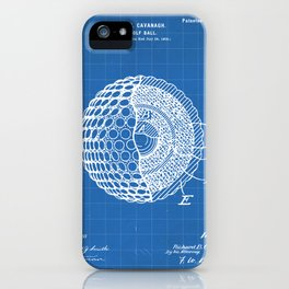 Golf Ball Patent - Golfer Art - Blueprint iPhone Case