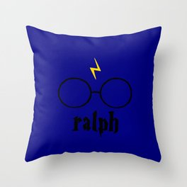 Glasses and Scar Throw Pillow