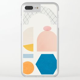 Abstraction_Shapes Clear iPhone Case