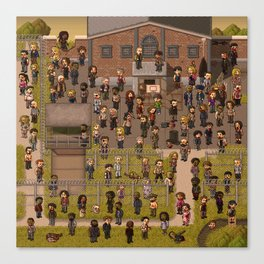 Super Walking Dead: Prison Canvas Print