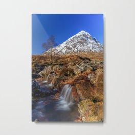 Etive Mor Waterfall under the sun Metal Print