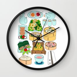 Dim Sum Lunch Wall Clock