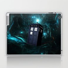Flying Tardis on Space Laptop & iPad Skin