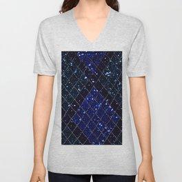 Dark Art Deco Sequin Design Unisex V-Neck
