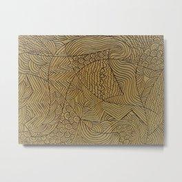 Burnt Gold Rough Start Metal Print
