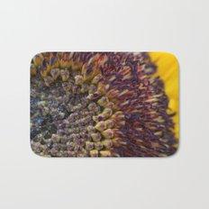 Sunflower macro Bath Mat