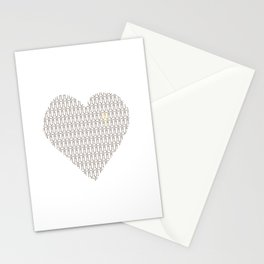 Penis at heart Stationery Cards