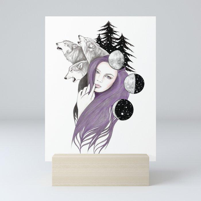 Three Moons Mini Art Print