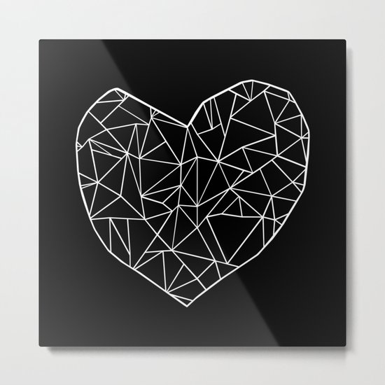 Abstract Heart Metal Print